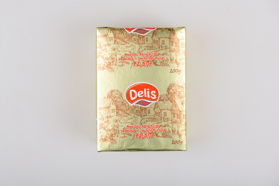 """Спрэд  72.5% """"Delis""""200 g, Amestec de gr. veg.-smin.dulce 72.5% Delis 200 g"""