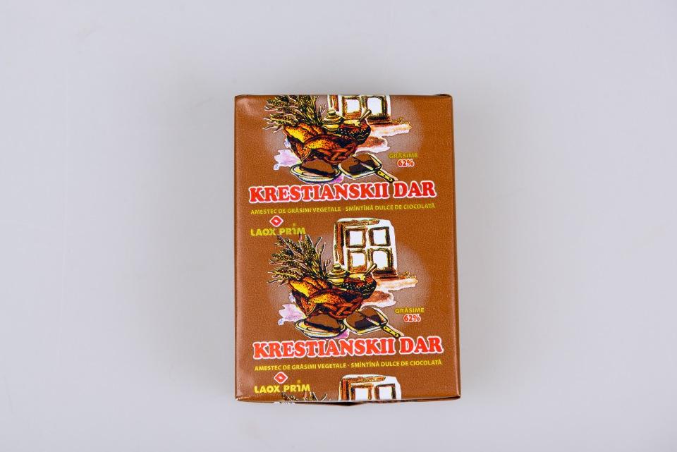 """Спрэд  72.5% """"Кrestianskii Dar"""" 200 g, Amestec de gr. veg.-smin.dulce de cioc. 62 % Кrestianskii Dar  200g"""