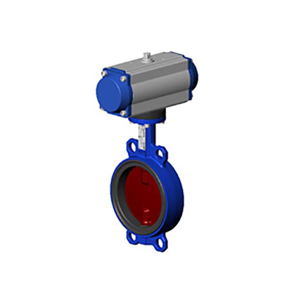 Купить Межфланцевый дисковый поворотный затвор – с пневмоприводом двухстороннего действия VPI4448-N03