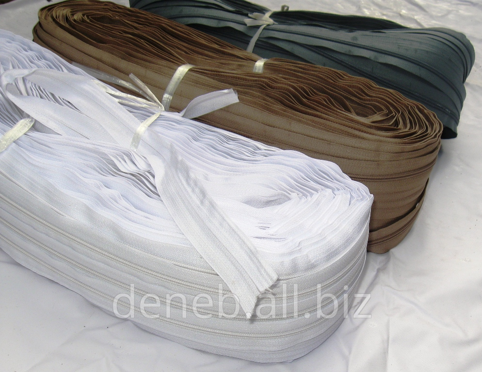 Купить Молния рулонная спиральная тип 5, 200 метров в 1 рулоне Цена указана за 1 погонный метр.