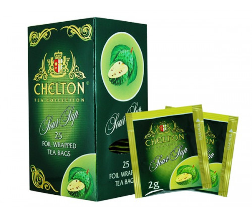 Купить Зеленый чай с соусепом Chelton Premium 25п