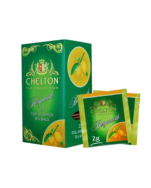 Купить Зеленый чай с бергамотом Chelton Premium 25п