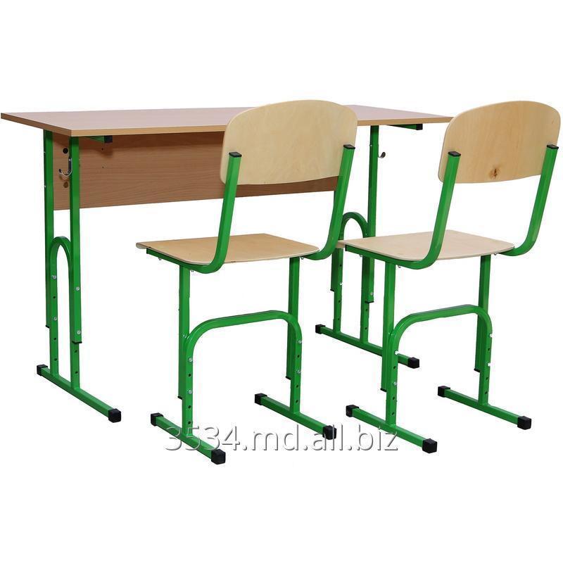 Комплект парта и 2 стула регулируемые по высоте Гелика
