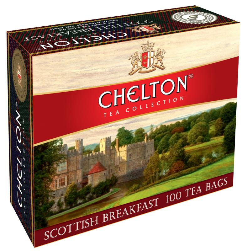 Купить Черный чай Chelton Scottish Breakfast 100 пак.