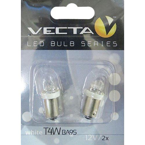 Лампочка Vecta светодиодная с цоколем T4W 12В белый 5959 2шт