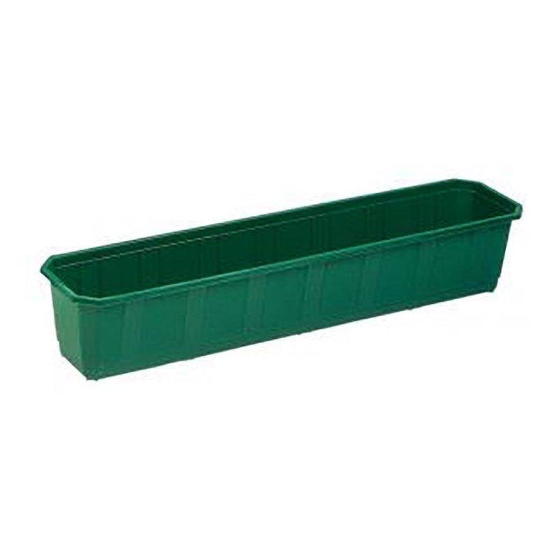 Балконный ящик для цветов зеленый 800х170мм