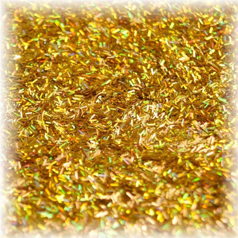 Блестки декоративные Kornovance №16 золото-голографика (палочки) 15г
