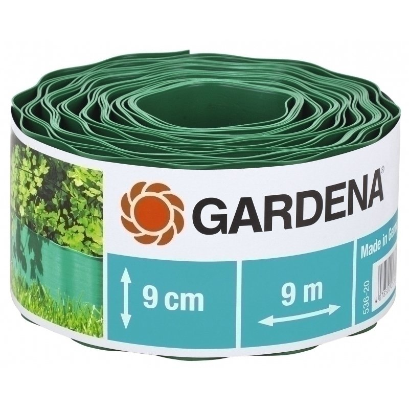 Бордюр садовый 536-20 зеленый 9см