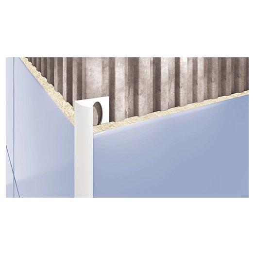 Внешний профиль для плитки белый 2500х12мм
