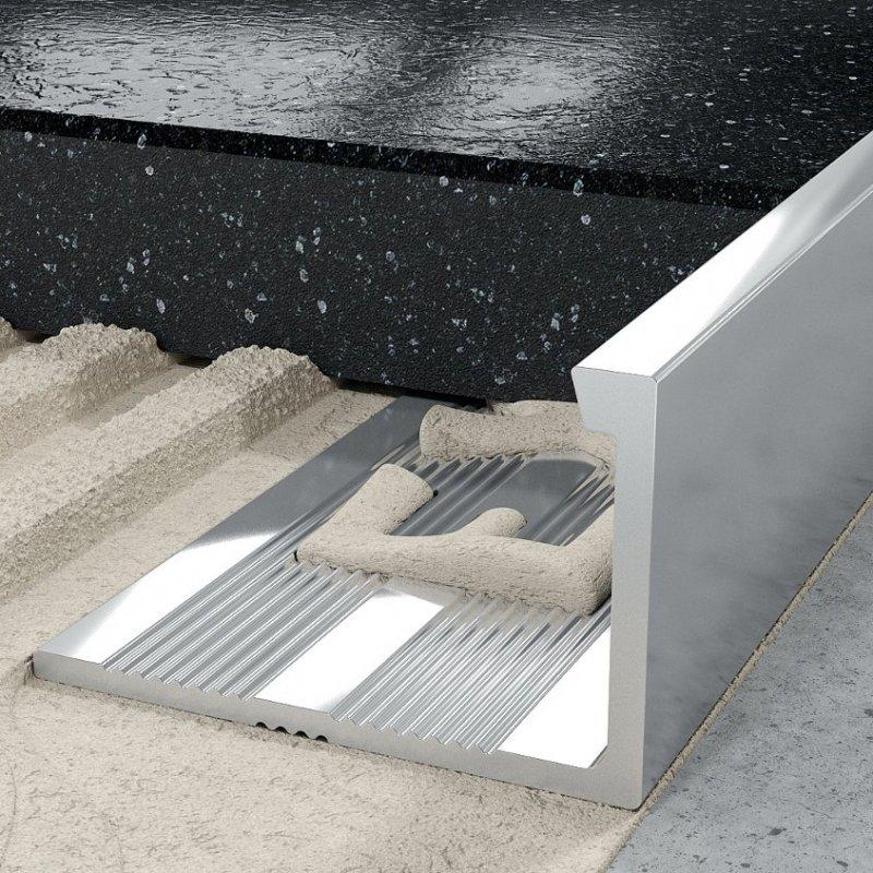 Внешний профиль для плитки серебряный 2500х12мм