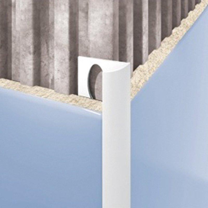 Внешний профиль для плитки слоновая кость 2500х7мм