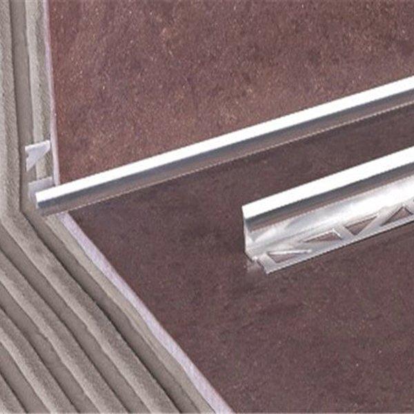Внутренний металлический профиль для плитки WEWN cеребряный 2500х10мм
