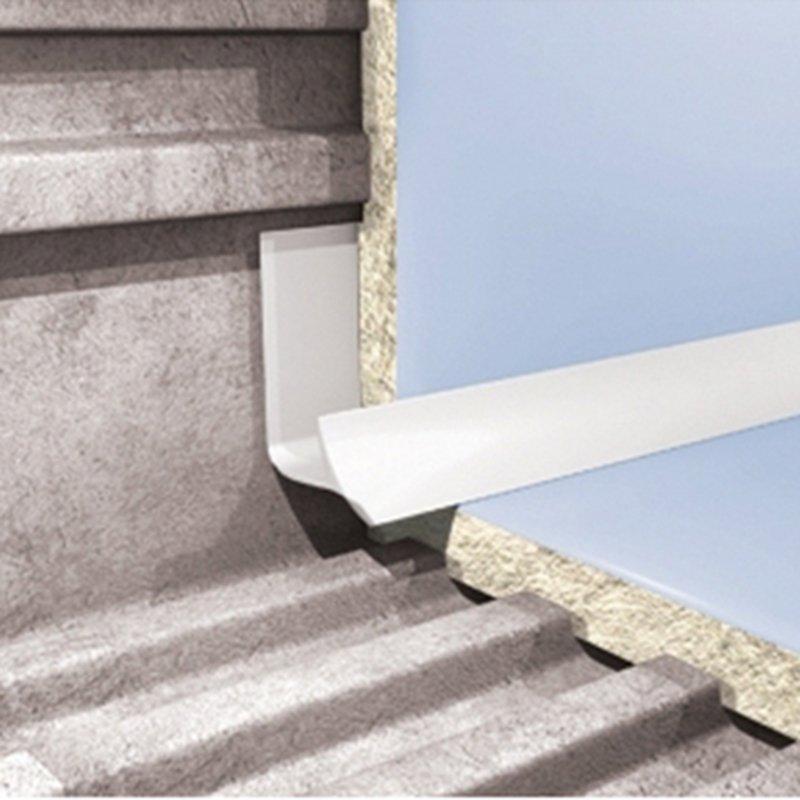 Внутренний профиль для плитки белый 2500х9мм