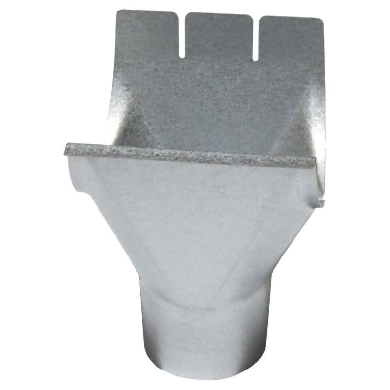 Воронка водосточная Al-Zn серебристый 125/90мм