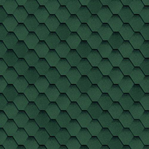 Гибкая черепица Cadril зеленая 32х100см