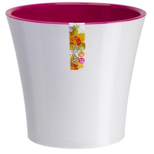 Горшок для цветов Arte Белый-Пурпурный 0.6л
