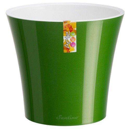 Горшок для цветов Arte Зеленый-Белый 0.6л