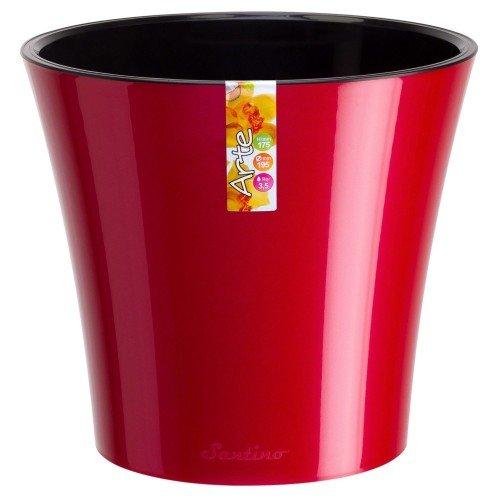 Горшок для цветов Arte Красный-Черный 0.6л