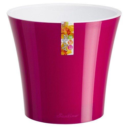 Горшок для цветов Arte Пурпурный-Белый 3.5л