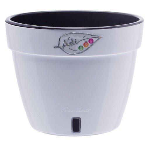Горшок для цветов Asti Белый-Черный 2.5л