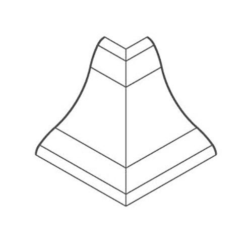 Купить Угол внешний для профиля ПВХ алюминий 21х21мм