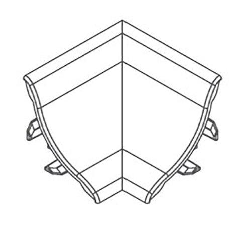 Купить Угол внутренний для профиля ПВХ алюминий 21х21мм