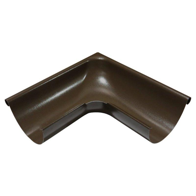 Купить Угол желоба наружный коричневый 125мм