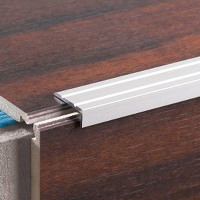 Купить Узкий лестничный профиль LSW 10 cеребряный 2500х25х10мм