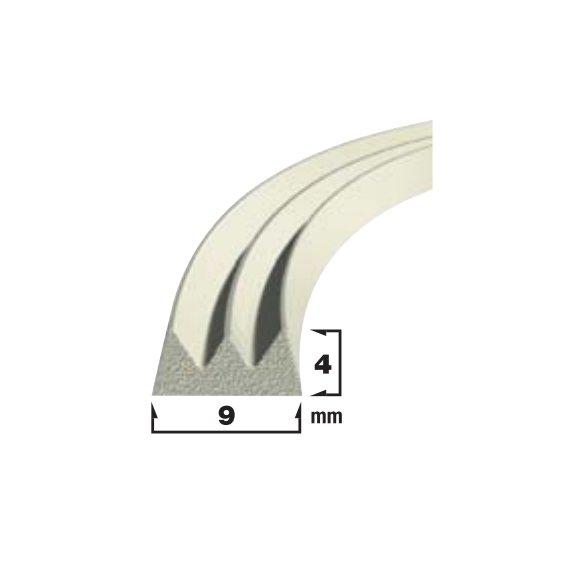 Купить Уплотнитель самоклеющийся белый 9x4мм