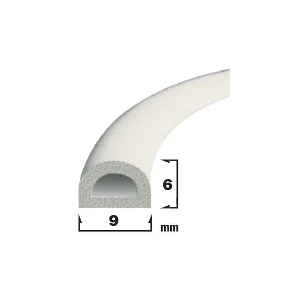 Купить Уплотнитель самоклеющийся белый 9x6мм