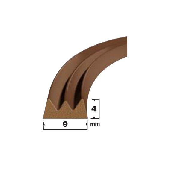 Купить Уплотнитель самоклеющийся коричневый 9x4мм