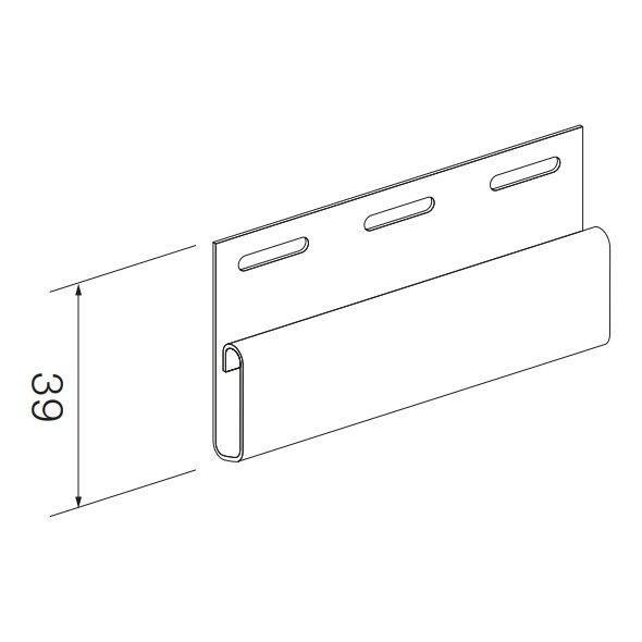 Купить Финишный профиль SV-14 для винилового сайдинга 3050мм светло-серый