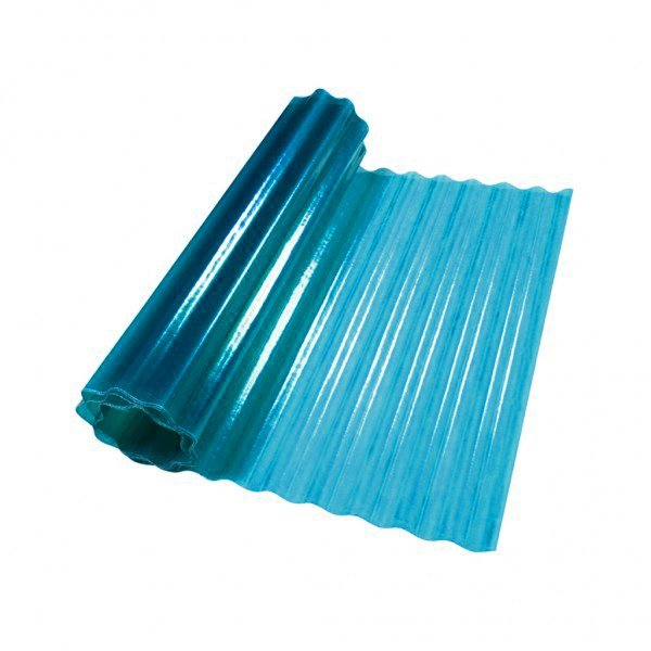 Купить Шифер пластиковый волнистый Elyx синий UV 1х2м