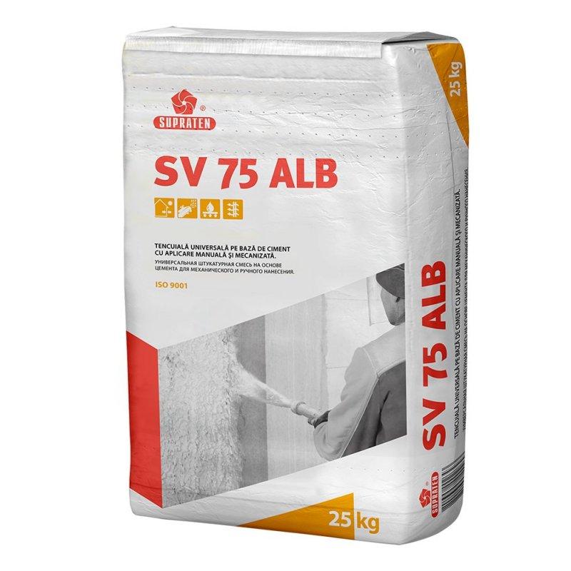Купить Штукатурка цементная SV 75 белая 25кг