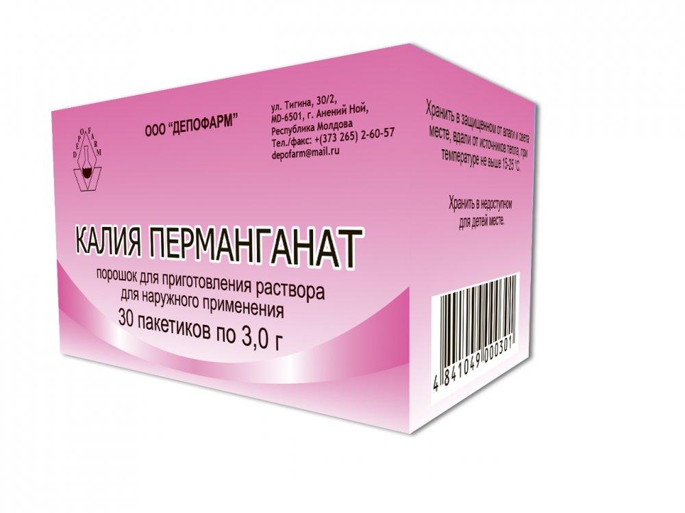 Buy Potassium permanganate powder for solution for external application 3.0 g