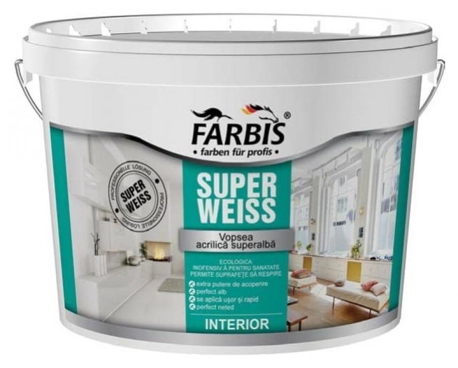 Купить Краска латексная супербелая матовая для потолков и стен, cтойкая к сухому истиранию FABRIS