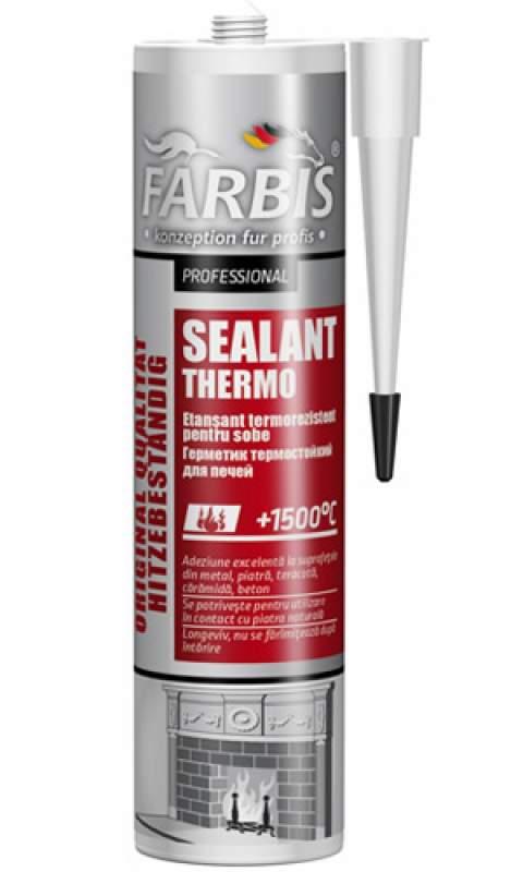 Купить Профессиональный термостойкий герметик для печей +1500°C FARBIS