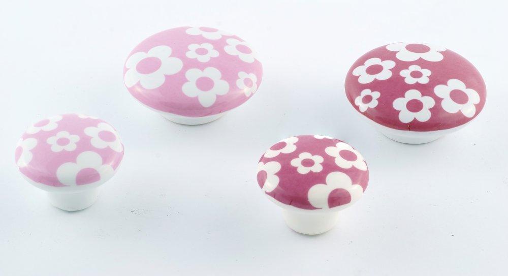 Купить Мебельная ручки Керамика Pink Flower