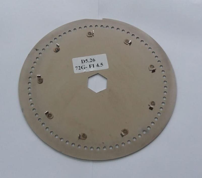 Диск сеялки Gaspardo 72 дырок 4.5mm