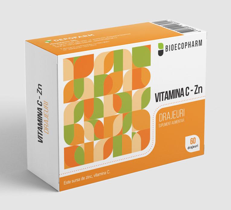 ВИТАМИН С-Zn драже, поливитаминный препарат с цинком