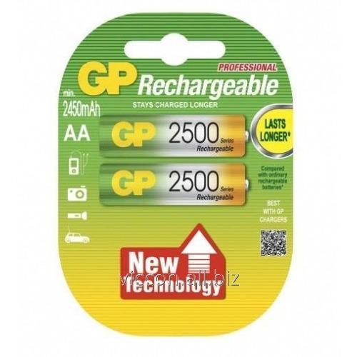 Купить Аккумулятор GP, 250 AA HC-U2, R6, AA, 2500 mAh, NiMh