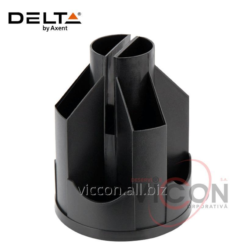 Купить Подставка-органайзер Delta D3003-01, 11 отделений, 103х135 мм, черная
