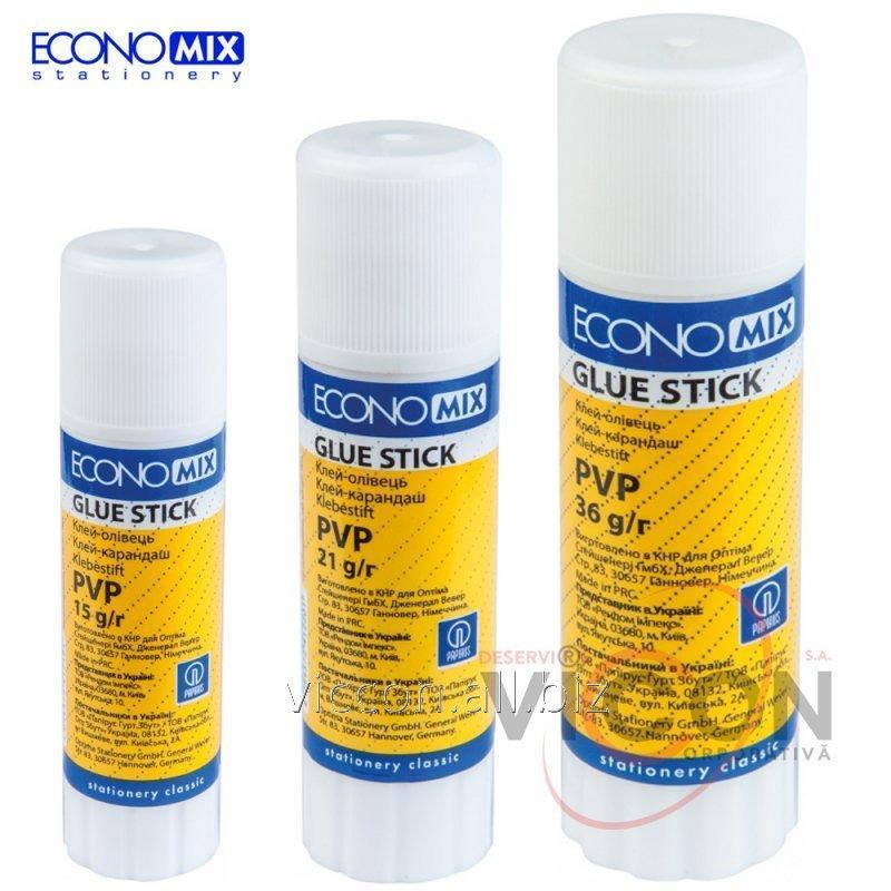 Купить Клей-карандаш, 21 г., PVP, Economix