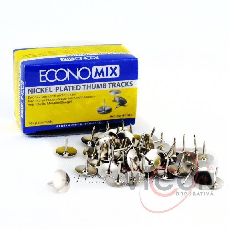 Купить Кнопки никелированные, ECONOMIX, 100 шт