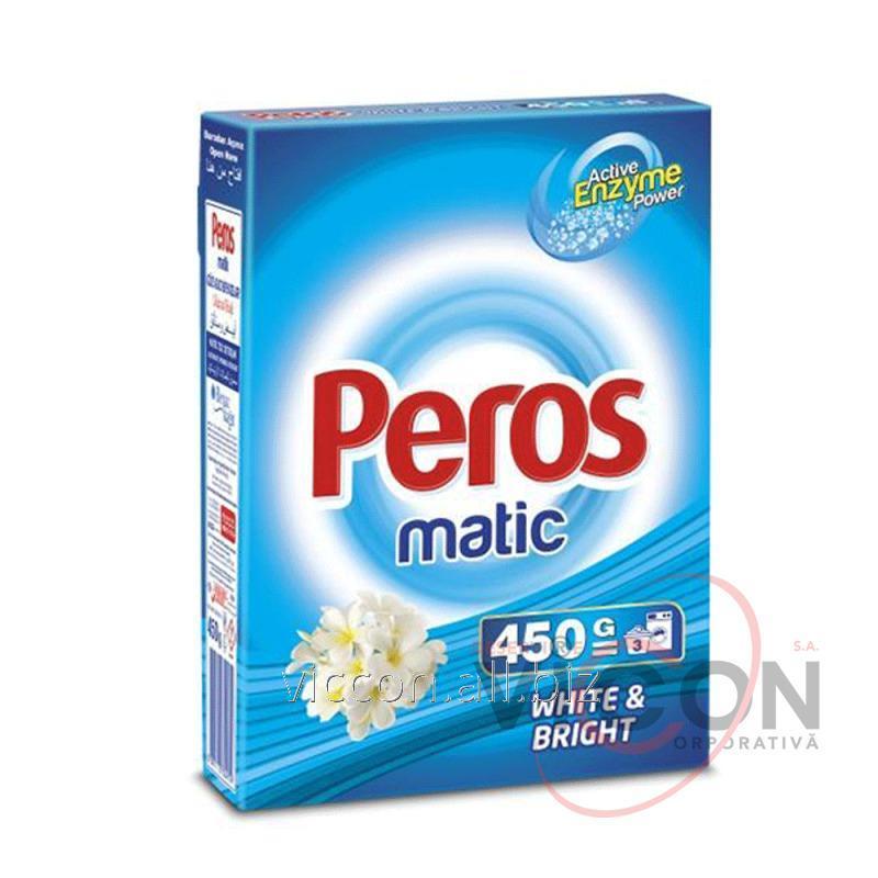 Купить PEROS Стиральный порошок для автоматической стирки 450 ГР. в коробке для белого белья и цветного белья