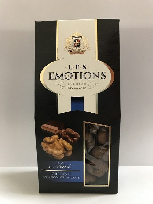 Buy Premium Ciocolata Les Emotions: Nuci grecesti in ciocolata de lapte 125 gr Greek nuts in milk chocolate