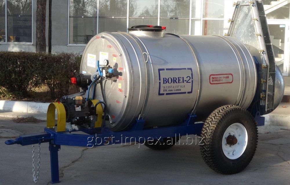 """Купить Опрыскиватель вентиляторный прицепной """"BOREI sprayer-2"""", для виноградников и садов"""