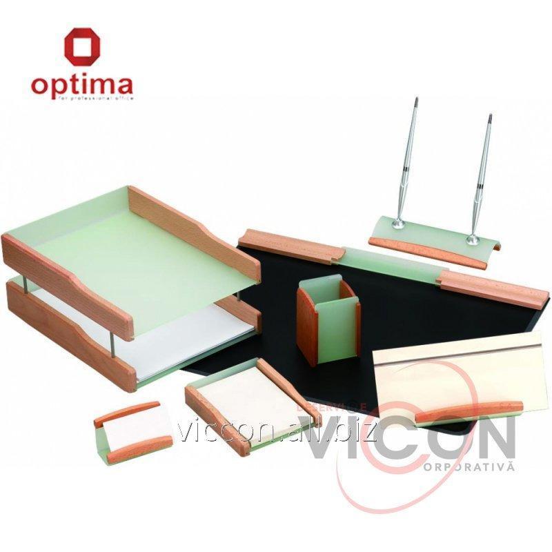 Купить Набор настольный деревянный из 7 предметов OPTIMA O36419