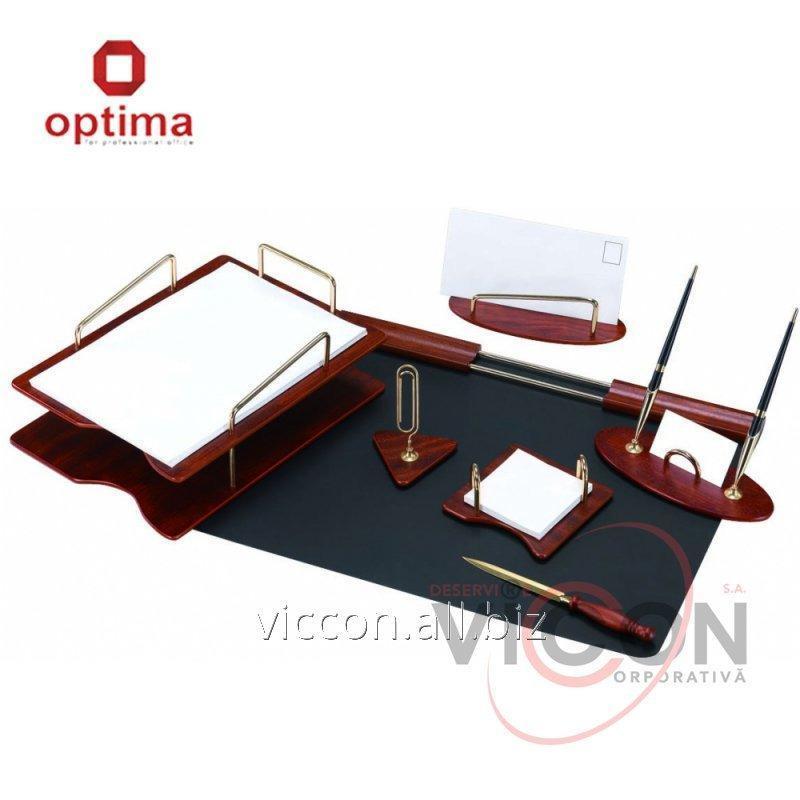 Купить Набор настольный деревянный из 7 предметов OPTIMA O36413