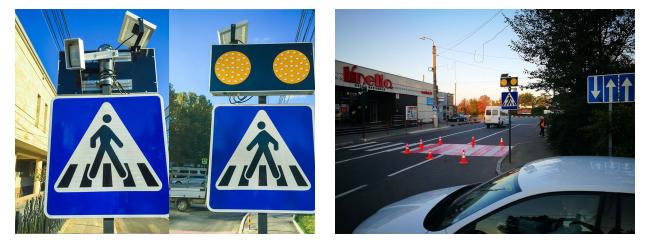 Купить LED дорожные знаки на солнечной батарее